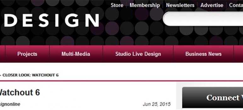 WATCHOUT 6 reviewed in <em>Live Design</em>